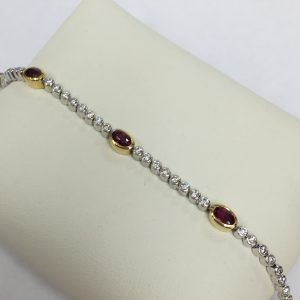 Diamond and Ruby Bracelet