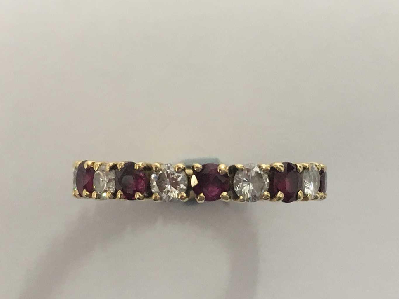 30ccb27ef519c VINTAGE RUBY & DIAMOND FULL ETERNITY RING – Belmont Jewellery